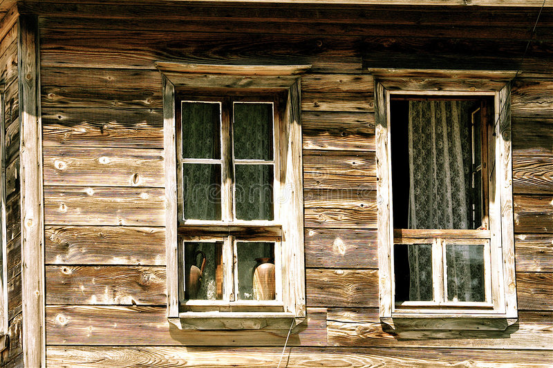 Download The windows of rural house stock photo. Image of retro - 3085410