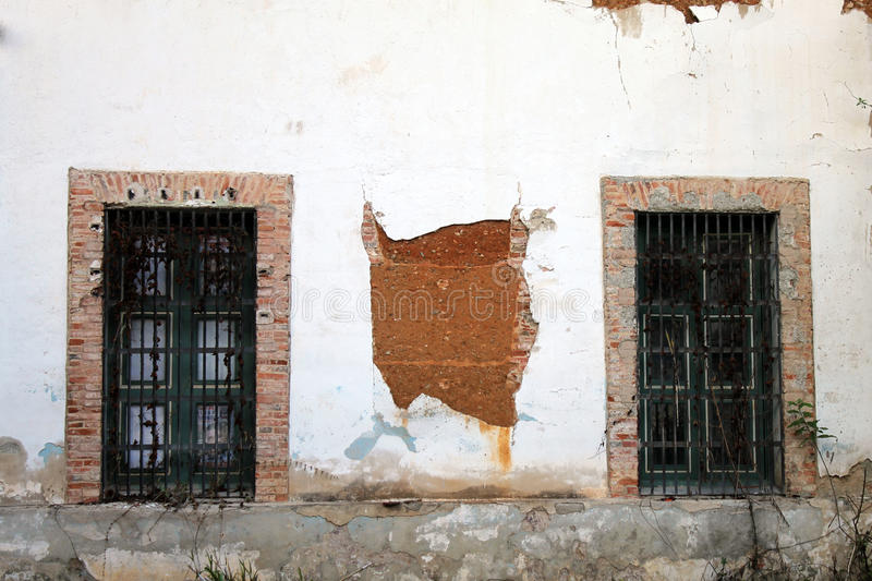 Windows. Of the San Carlos Barracks, Caracas-Venezuela. It was ordered to build by 1787 by the then governor of the Province of Venezuela Don Luis Unzagay stock photos