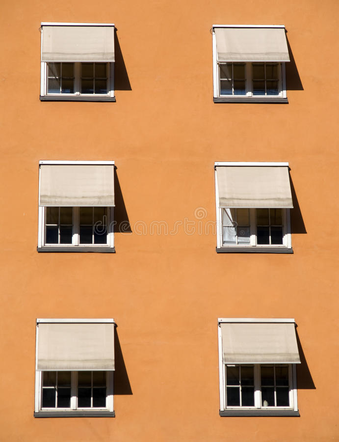 Windows With Shades Royalty Free Stock Photo