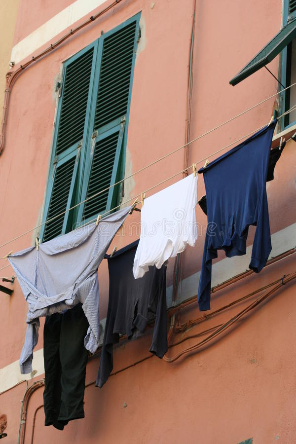 Download Windows and shutters stock photo. Image of laundry, typical - 25809626