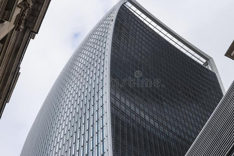Windows of Skyscraper Business Office, Corporate building in London City royalty free stock images