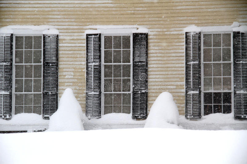 Windows and Snow drifts royalty free stock image