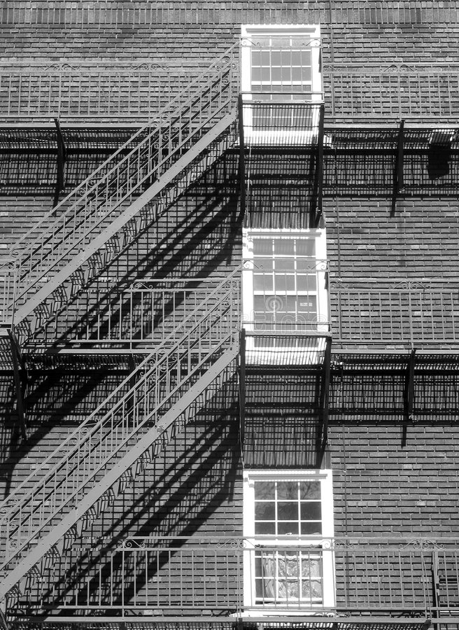 Windows and stairs stock photos