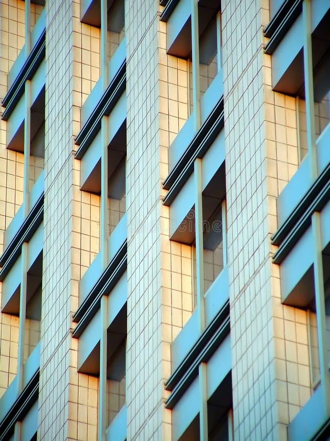 Windows sur la construction de Morden image libre de droits