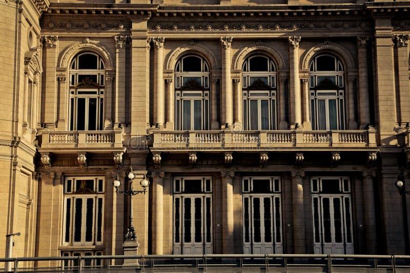 Windows of Teatro Colón royalty free stock photography