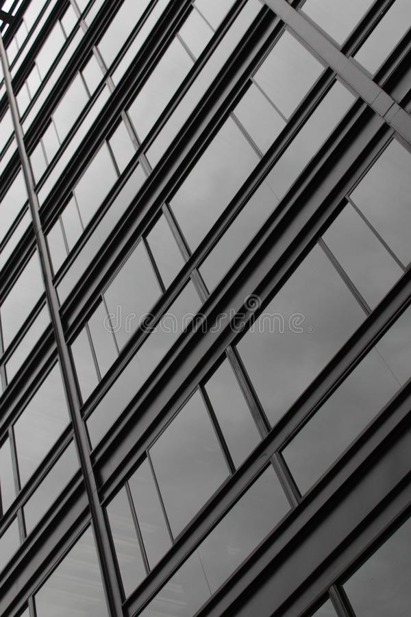 Windows tekstury fasady wzór zdjęcia stock