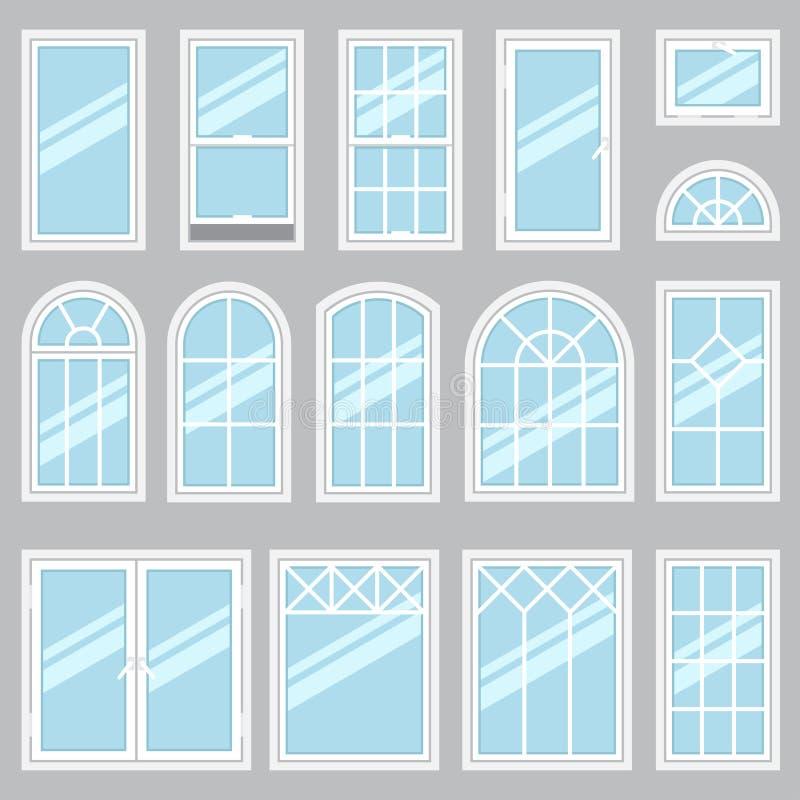 Windows types royalty free illustration