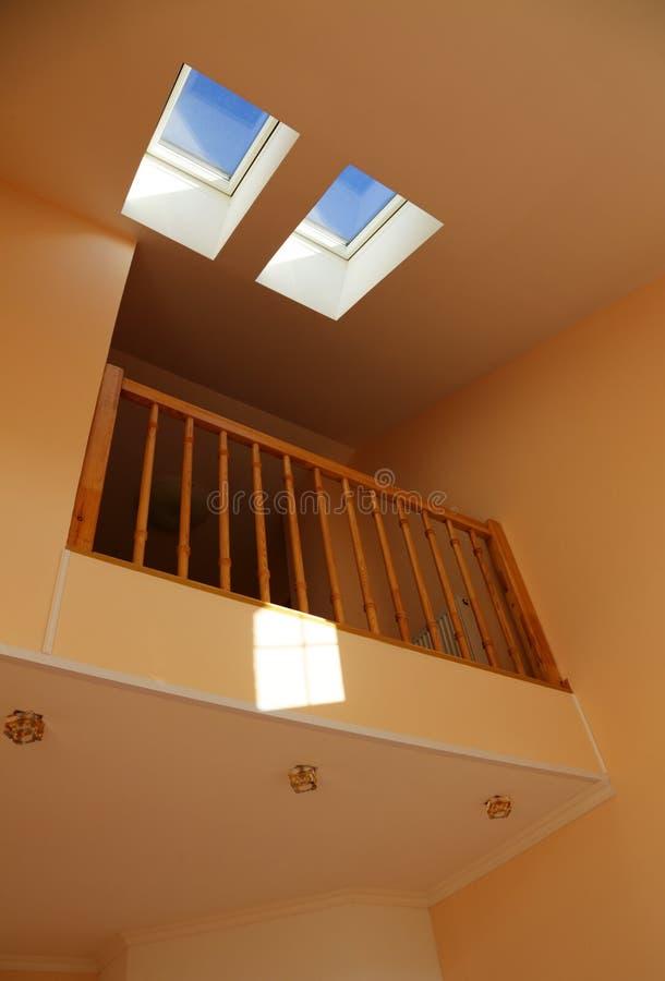 Windows in un tetto fotografie stock