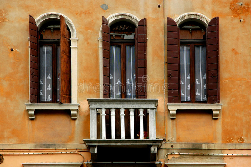 Download Windows of Venice Series stock image. Image of balcony - 115575