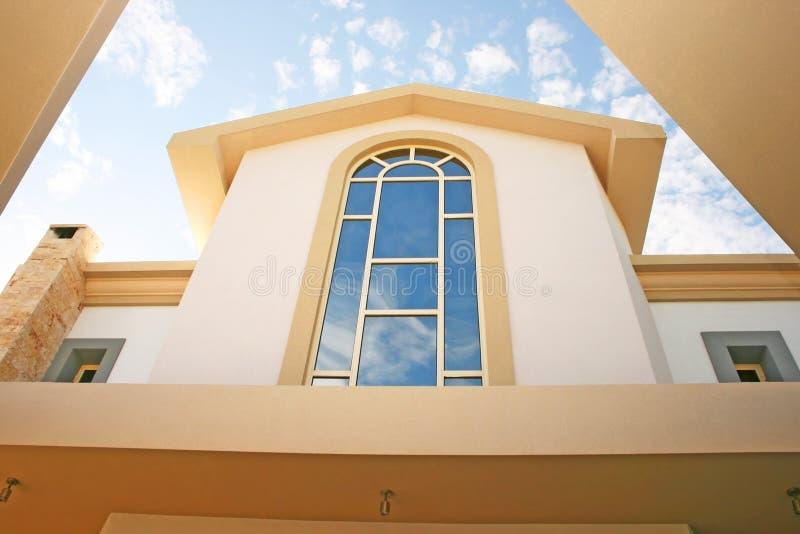 Windows of villa stock image