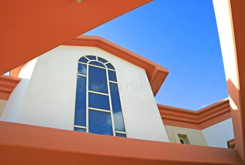 Windows of villa stock photos