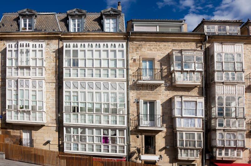 Windows in Vitoria fotografie stock
