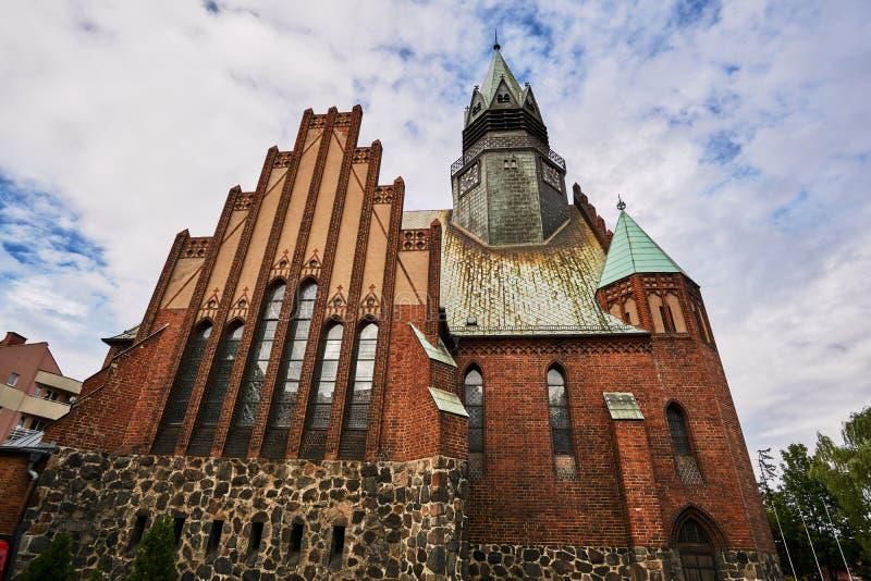 Windows w gotyku, Ewangelicki kościół zdjęcie royalty free