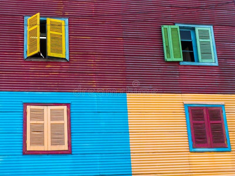 Windows W losu angeles Boca domach zdjęcia royalty free