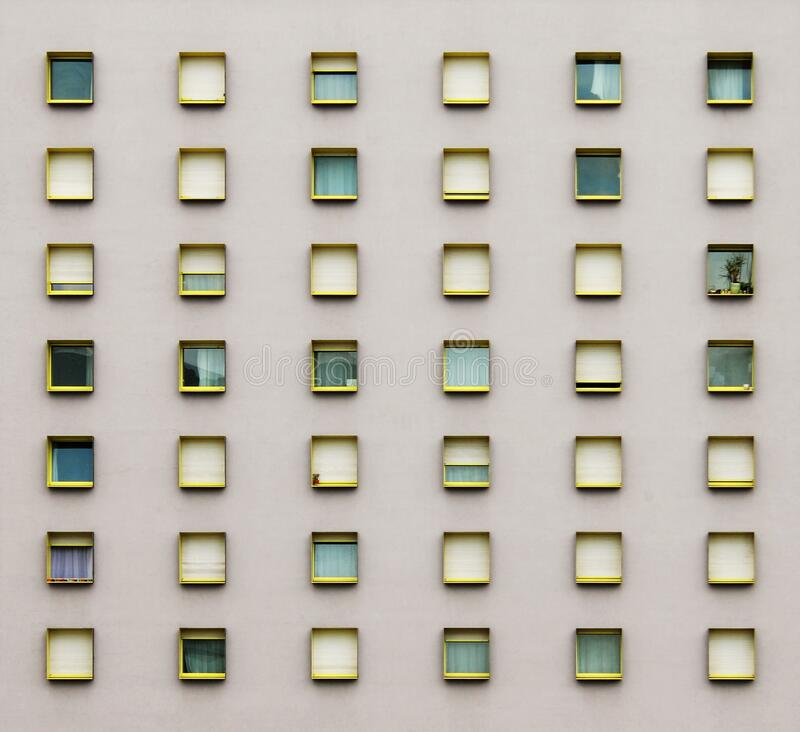 Windows on wall royalty free stock photography