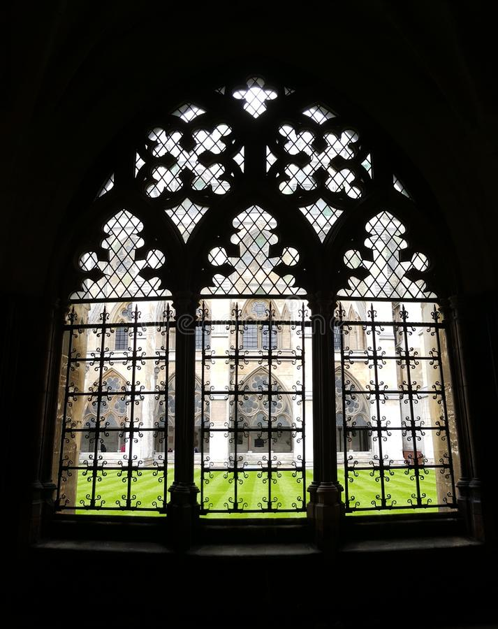 Windows in Westminster Abbey, England royalty free stock image