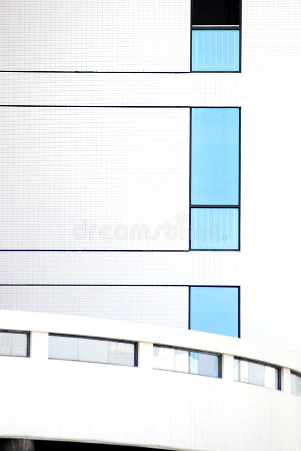 The windows and white wall stock photography