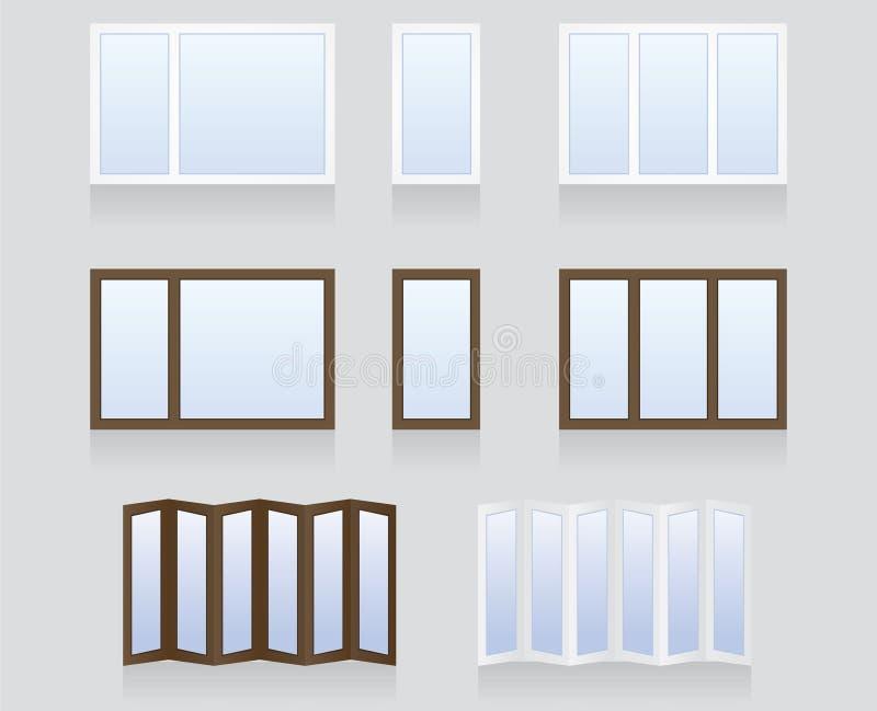 Windows y puertas ilustración del vector
