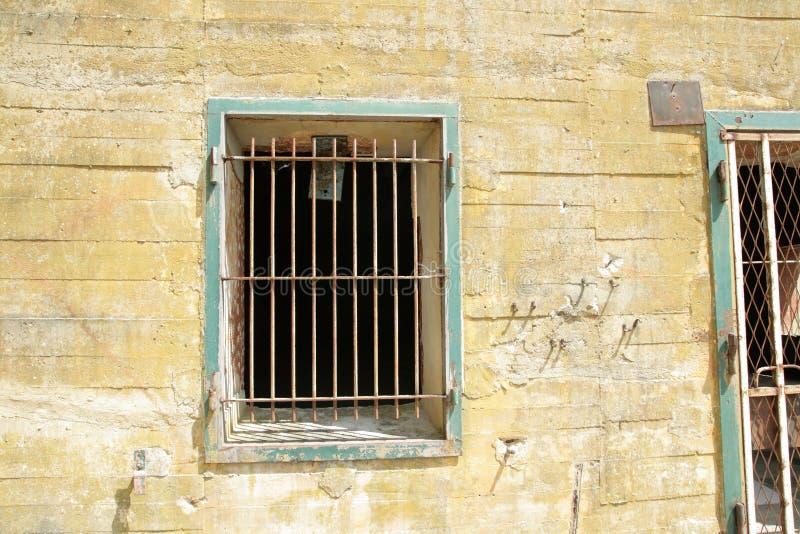 Windows z barami na Hitler bunkierze w Margival, Aisne, Picardie w północy Francja obrazy stock
