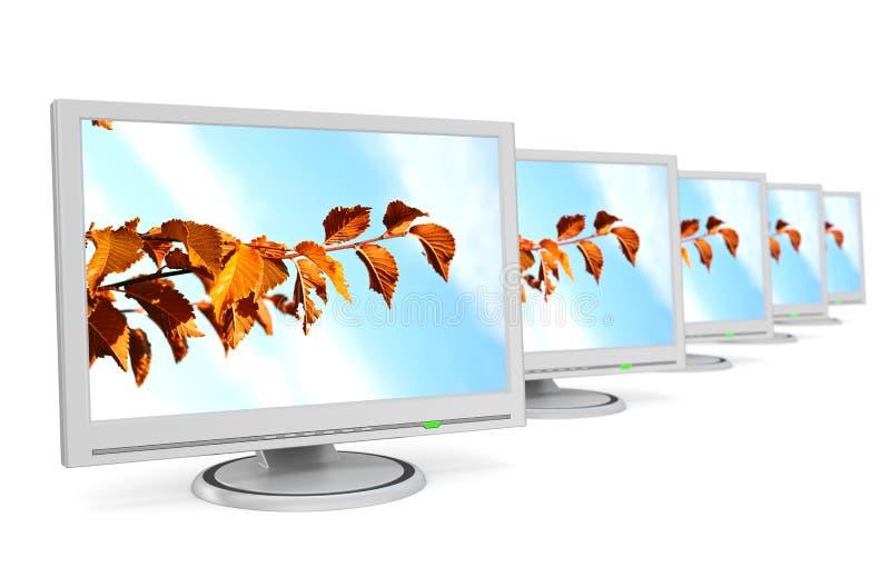 Windows zum Herbst. lizenzfreie abbildung