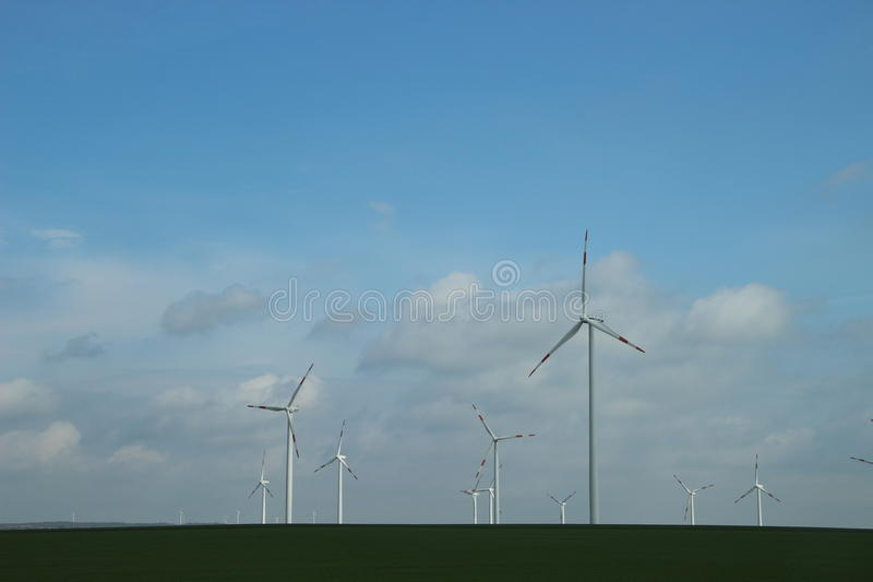 Windpark fotografie stock libere da diritti