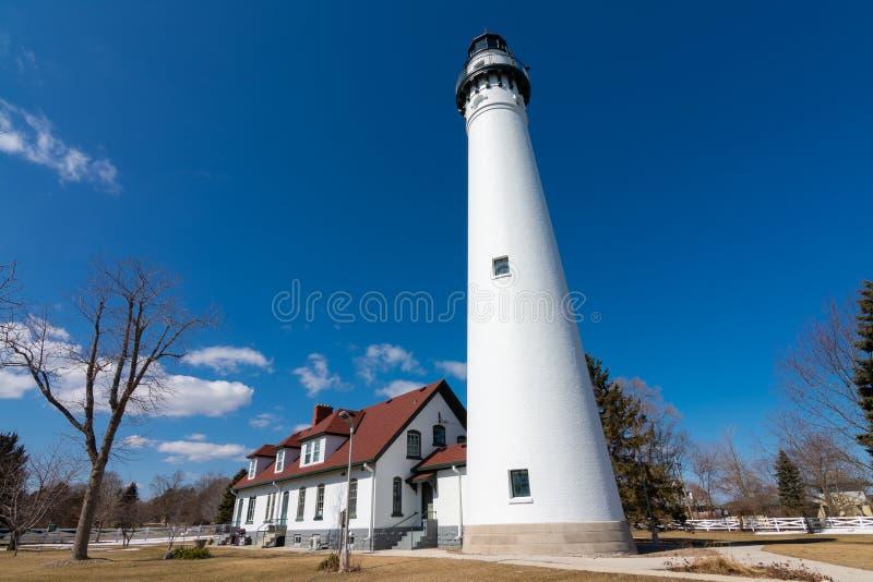 Windpoint-Leuchtturm stockbilder
