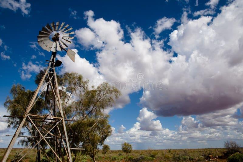 Windpomp - Australië royalty-vrije stock foto's