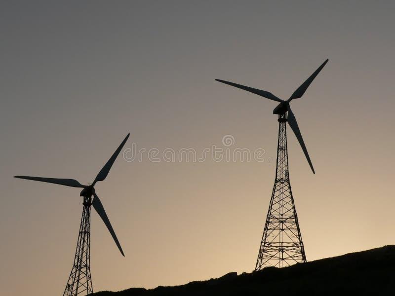 windpower royaltyfria bilder