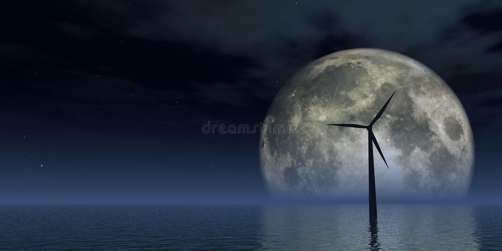 windpower vektor illustrationer