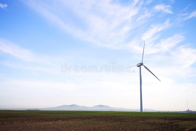 Windpower amigável de Eco fotografia de stock