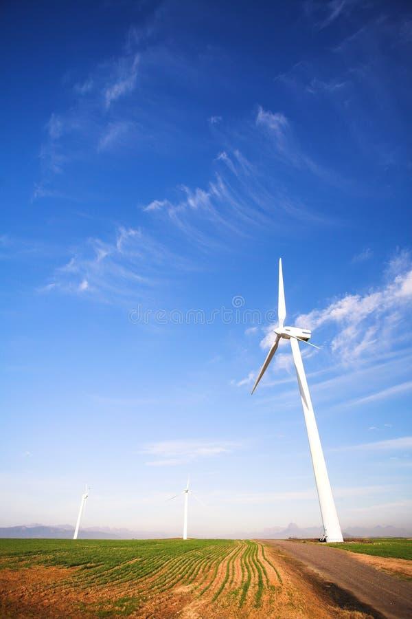 Windpower amigável de Eco fotos de stock royalty free