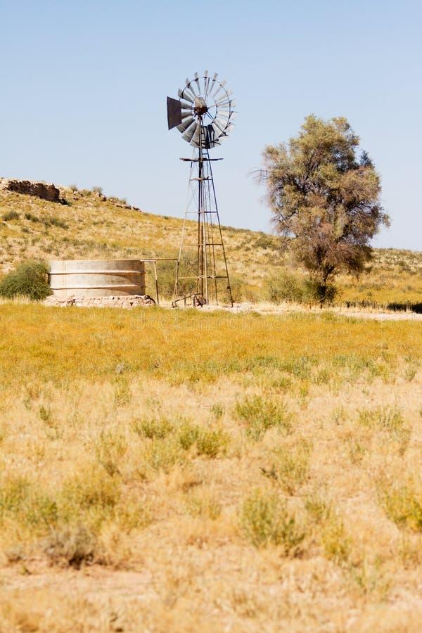 Download Windpump And Dam In The Kalahari Desert Stock Image - Image: 15075429