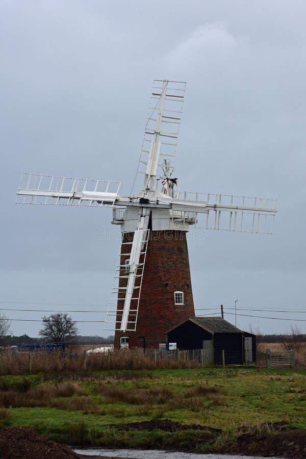 Windpump de caballo, Norfolk, Inglaterra fotografía de archivo libre de regalías