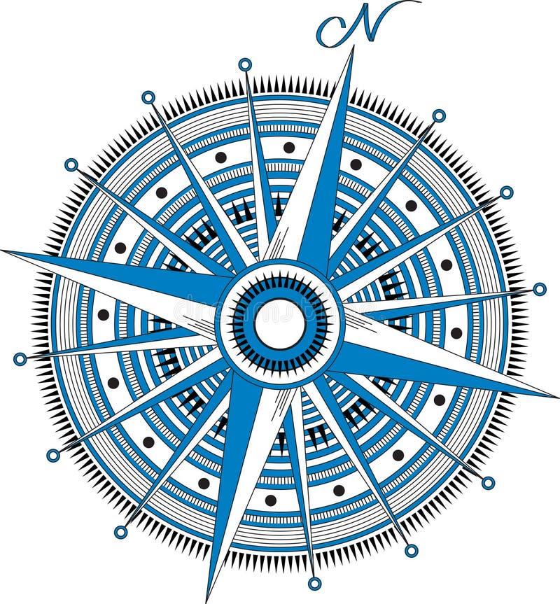 Windroos vector illustratie