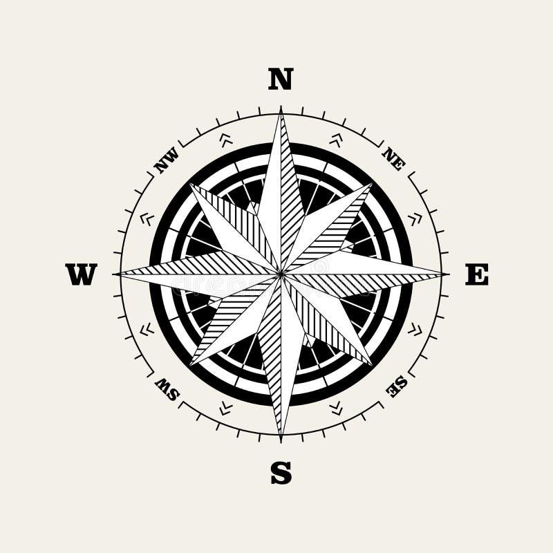 Windrose da rosa de compasso ilustração stock