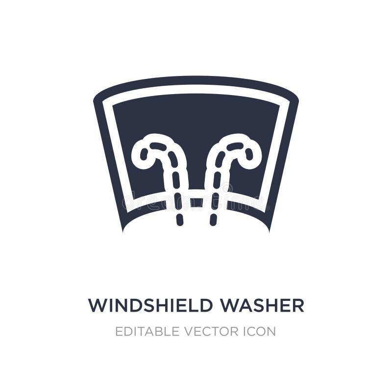 Windschutzscheibenwaschmaschinenikone auf weißem Hintergrund Einfache Elementillustration vom Formkonzept lizenzfreie abbildung