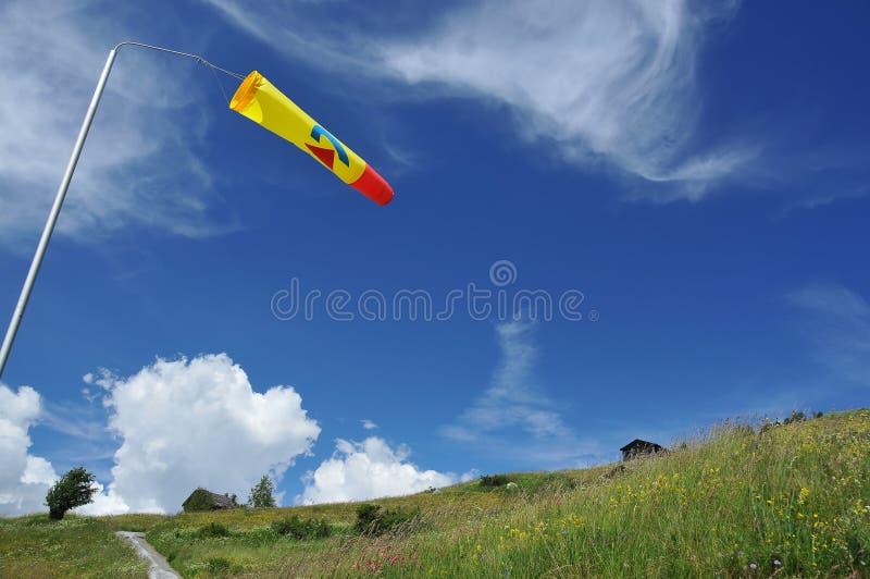 windsock горы лужка стоковое фото