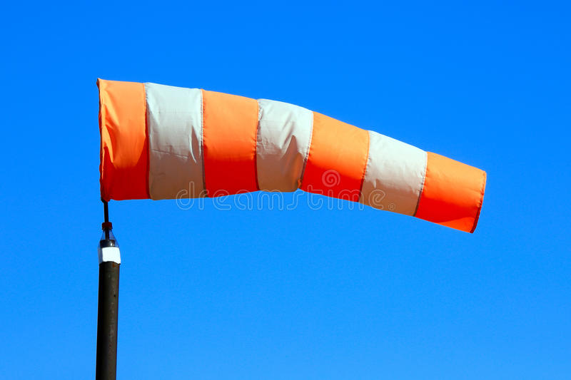 Windsock against the sky royalty free stock photo
