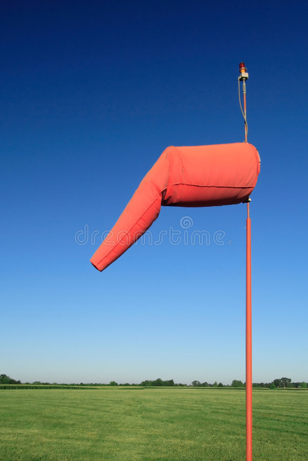 Windsock dell'aeroporto immagini stock
