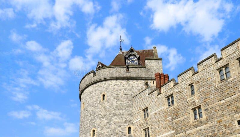 WINDSOR, ANGLETERRE - 29 AOÛT 2017 : Windsor Castle Windsor Castle est une résidence royale chez Windsor dans le comté anglais de photographie stock libre de droits