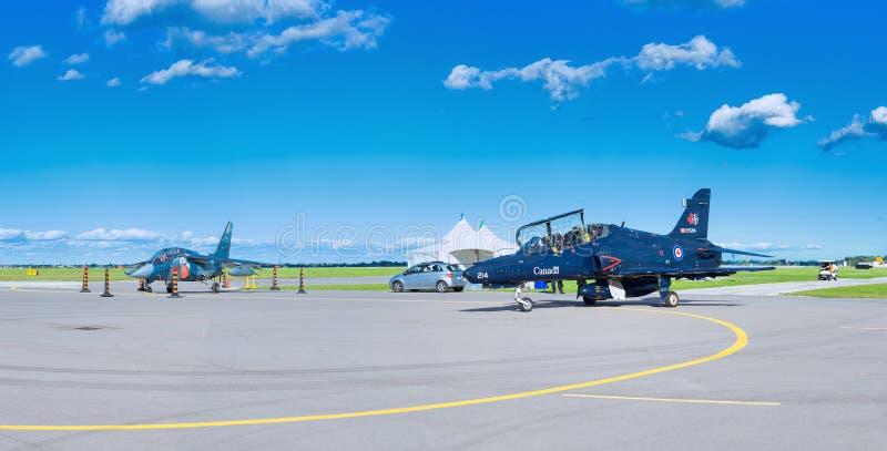 WINDSOR, CANADÁ - SEPT 10, 2016: Vista panorâmica do jato canadense imagens de stock royalty free