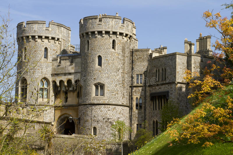 Download Windsor Castle Battlements stock image. Image of landmark - 21840687