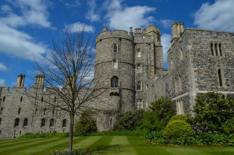 Windsor Castle bei England Großbritannien stockbild