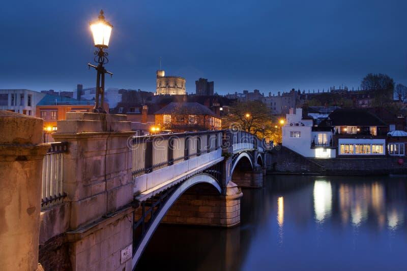 Windsor Castle. The bridge from Eton to Windsor facing Windsor Castle royalty free stock photography