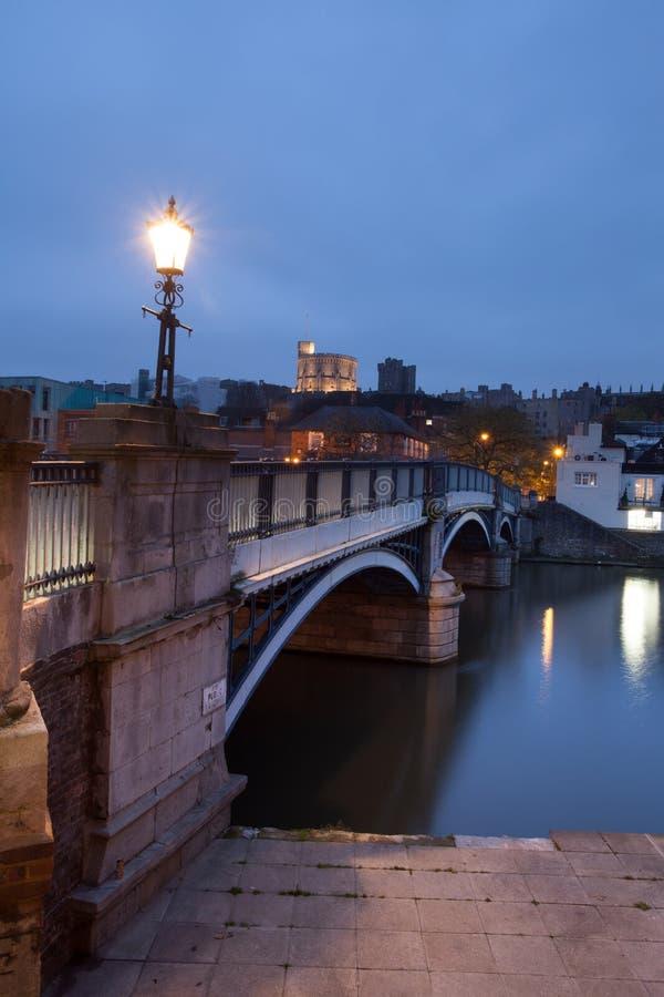 Windsor Castle. The bridge from Eton to Windsor facing Windsor Castle royalty free stock photo
