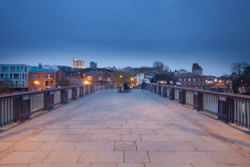 Windsor Castle. The bridge from Eton to windsor facing Windsor Castle royalty free stock photos