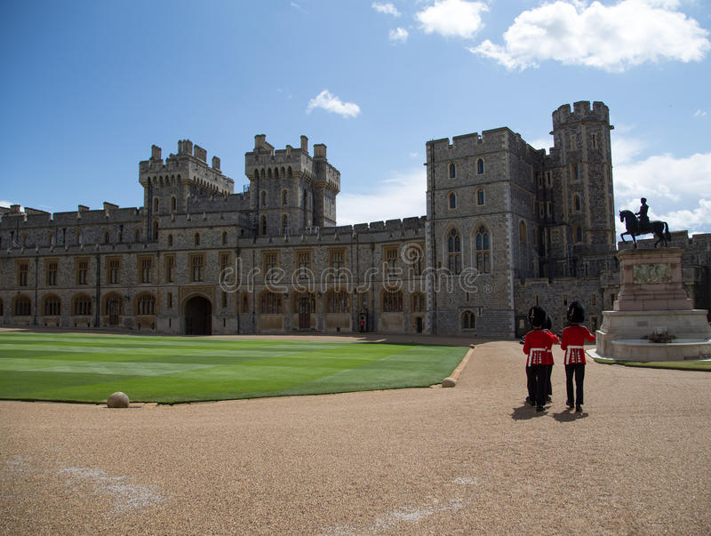 Windsor Castle Changing of the Guards royalty free stock photos
