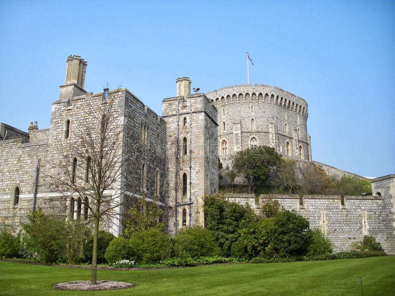 Windsor Castle England Reino Unido em um dia bonito fotografia de stock