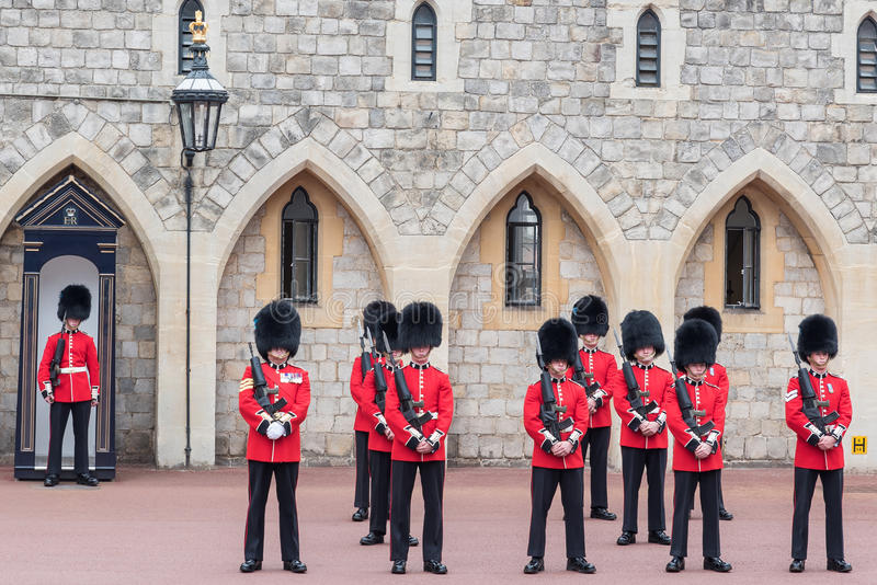 Windsor castle guards royalty free stock photos