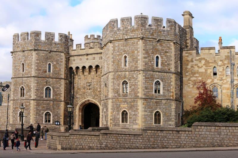 Windsor Castle - königlicher Wohnsitz lizenzfreies stockbild